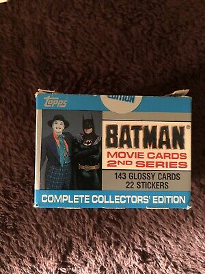 1989 Topps Batman Limited Edition Movie Cards Sealed 2nd Edition Series Set