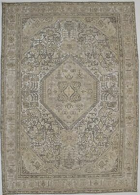 Antique Washed Muted Geometric 8X11 Distressed Handmade Oriental Area Rug Carpet