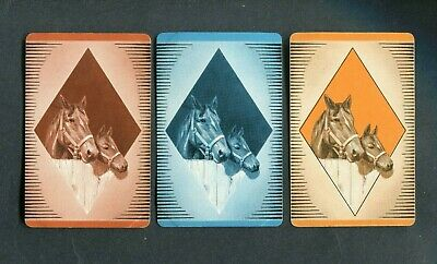 HORSES X 3 - 3 Single Swap / Playing Cards