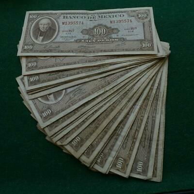 lot 30 MEXICO 100 PESOS  AMERICAN BANK NOTE CO. HIDALGO VF