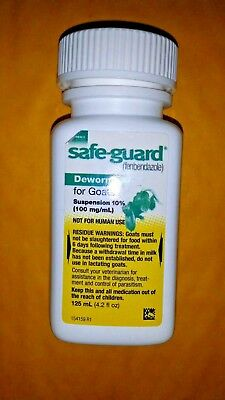 SAFEGUARD DEWORMER FOR GOATS 100mg Fenbendazole Low Dose 125 ml