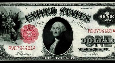 $1 1917 United States Note - Legal Tender * Sawhorse  MORE CURRENCY FOR SALE **
