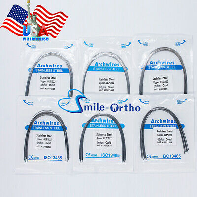Dental Orthodontic Stainless Steel Rectangular Arch Wire 016*022 UPPER + LOWER