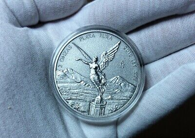 2019 Mexico 2 oz Silver Libertad Antiqued FinishOnly 1,000 Minted