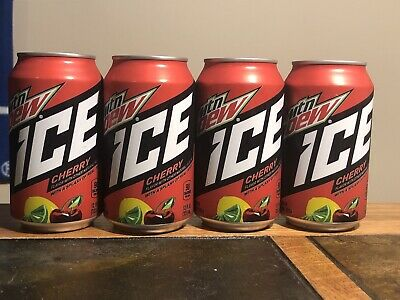 x4 Cans Mountain Dew ICE Cherry Expired May 4 2020 [DISCONTINUED]