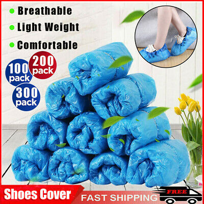 100-300 Disposable PVC Shoe Covers For Shoes And Boots Protect Carpets & Floors