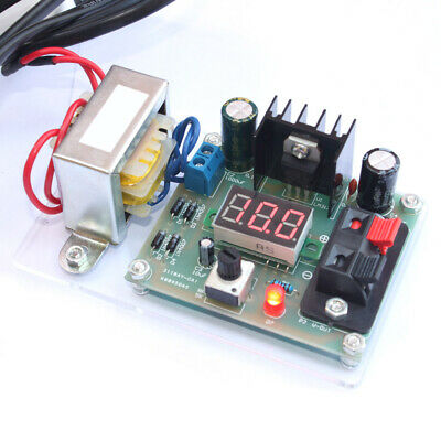 Continuously Adjustable AC to DC Regulated Power Supply DIY LM317 1.25V-12V B2Q7