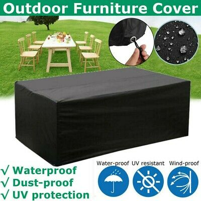 Outdoor Protective Rectangle Garden Furniture Cover Protect Patio Bbq Cover Set