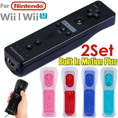 2Set Built In Motion Plus Remote Wiimote Controller Combo for Nintendo Wii U