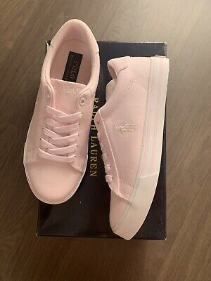 New Polo Ralph Lauren Girls Canvas Sneakers Trainers Shoes Size UK 13.5 EU 31.5