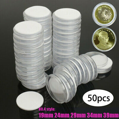 Coin Holder Round Capsules Case Adjustable For 19 /24 /29/ 34 /39mm High Quality