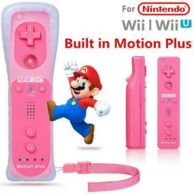 Built in Motion Plus Remote Controller For Nintendo Wii & Wii U Wiimote & Case