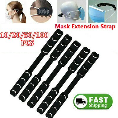 10-100pcs Adjustable Face Shield Ear Grips Extension Hooks Buckle Ear Protector