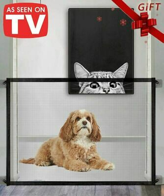 HOT!Retractable Pet Dog Gate Safety Guard Folding Baby Stair Gate Isolation UK