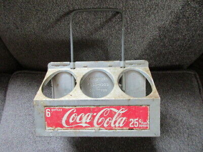 Vintage Coca Cola Coke Metal Aluminum 6 Pack Bottle Carrier