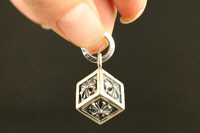 chinese standard silver 925 silver dice Art statue car key ring pendant