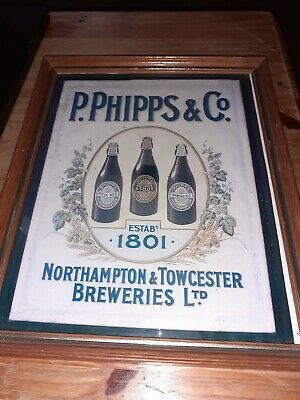 P Phipps And Co Brewery Advertising  Picture Pub Man Cave 11 X 9 Inch