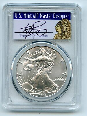 2020 $1 American Silver Eagle 1oz PCGS MS70 FS 1 of 1000 Thomas Cleveland Native