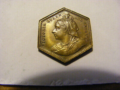 "A Victoria Veil Head ""Hearts"" Gaming Token - Very Nice condition - 20mm Across"
