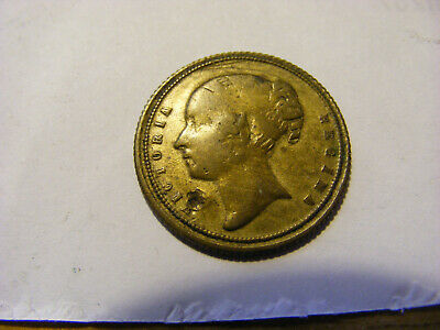 "A Victoria Bun Head  ""6 or 9"" Gaming Token - Nice condition - 22mm Dia"