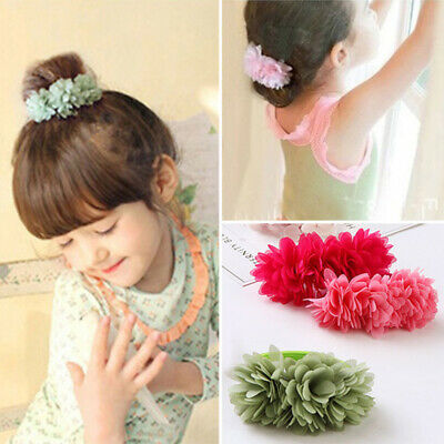 Hair  Bands  Accessories Girls Multi-layer  Clips Kids Elastic  Flower