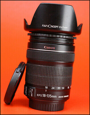Canon EF-S 18-135mm f3.5-5.6 IS STM Image Stabilizer Zoom + Front/Rear Lens Caps