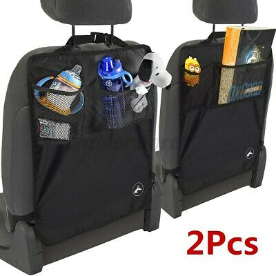 2 Pack Car Seat Protector Thickest Padded Back Seat Organizer Kick Mat Cover