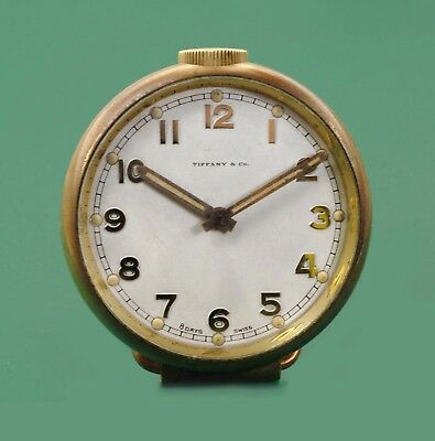 Vintage 1920's Tiffany & Co.  Antique  Desk Travelers 8 days  Clock by Concord