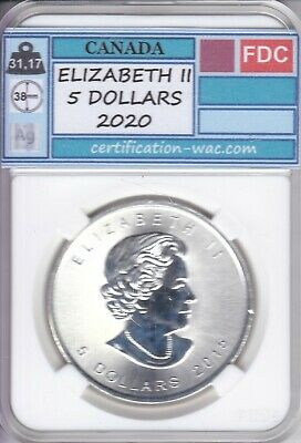 Elizabeth Ii 5 Dollars 2020 1 Once D'argent Canada