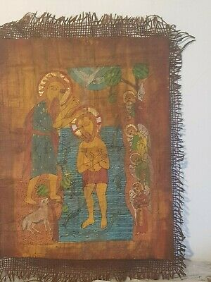 Rare Antique Ancient Egyptian papyrus Jesus Miracle Sea Angels 15 AD