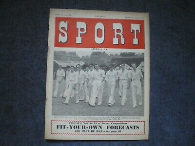 Sport, 8Th August 1952, Vintage Sport Magazine, Cricket, Football, Rugby