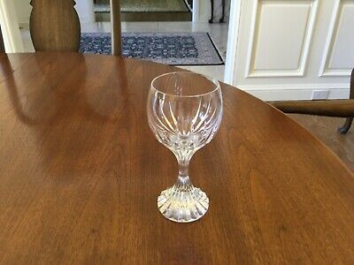 """Baccarat massena 6 3/8"""" wine glass excellent no chips or scratches"""