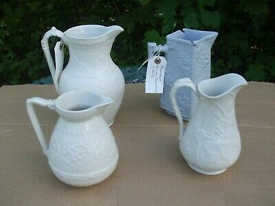 William Brownfield Relief Moulded Jugs