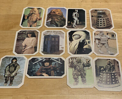 Dr Who TYphoo 1976 The Amazing World Of Dr Who Collctable Card Bundle X 12