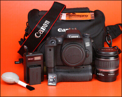Canon EOS 760D DSLR Camera +18-55mm II Zoom Lens kit Only 12,037 Shots -WiFi NFC