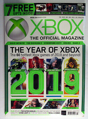 XBox Official Magazine #224 Gaming 7 Free Gifts March 2019 Sealed EX
