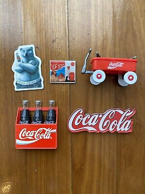Coca-Cola Refrigerator Fridge Magnets - Early 1990s - Lot Of 5