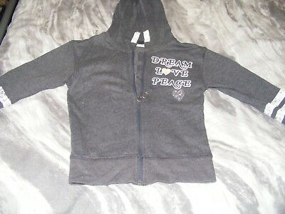 Girls Grey Hoody, Age 7 Years