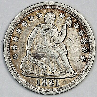 1841 United States Seated Liberty Half Dime - XF+ Extra Fine Plus Condition