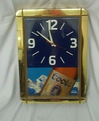 Vintage 1991 Coors Brewing CO. Advertising Wall Mounted Clock Thomas A Schutz