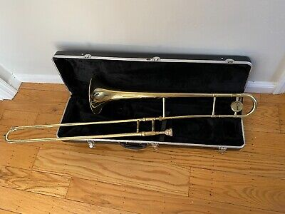 """Etude ETB-100 8"""" Brass Student Lacquered Trombone With Case"""
