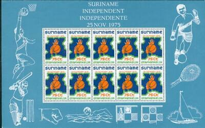 Surinam 3 s´sheet ** MNH Basketball chess Schach bg92-2