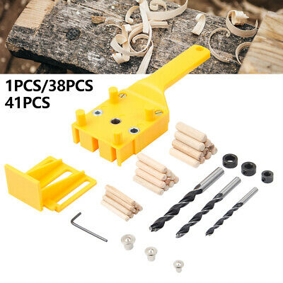 Handheld Woodwork Doweling Jig Drill Guide Wood Dowel Drilling Hole AUS