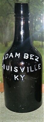 LOUISVILLE KENTUCKY, 1870 Era, Deep Amber, ADAM BEZ, Quart Ale