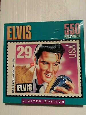 1995 Limited Edition ELVIS PRESLEY Milton Bradley 550pc PUZZLE Postage Stamp
