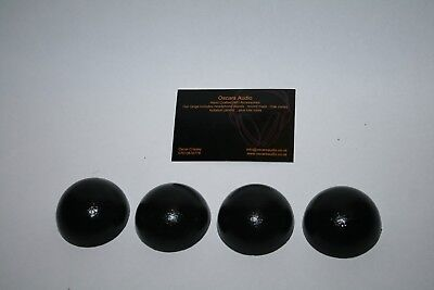 4 X Sorbothane 50 Mm Isolation Hemisphere Feet For Speaker Hi-Fi Turntable