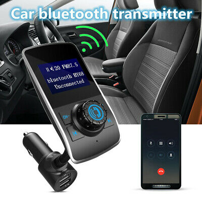 LCD Handsfree Car Kit bluetooth FM Transmitter MP3 Player Audio & USB