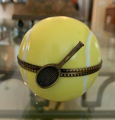 Limoge Eximios Large Tennis Ball Trinket Box