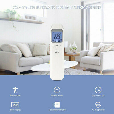 IR Infrared Digital Forehead Fever LCD Thermometer Non-Contact Baby/Adult Body