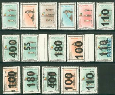 Guyana 16 different stamps** MNH Pfadfinder scouts bw69